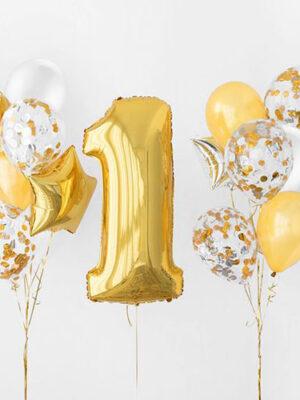 Шарики на 1 год «Золото- золото»