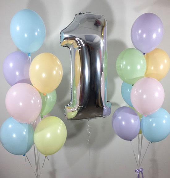 Шарики на день рождения 1 год «Макарон»
