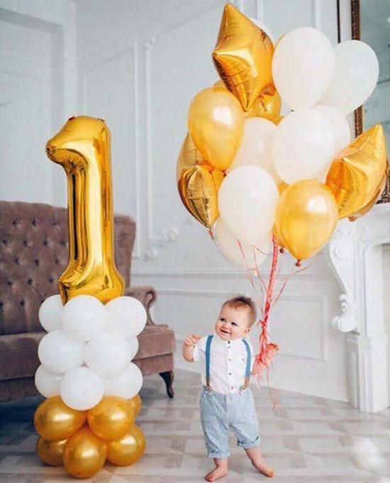 Кульки дитині на рік «Цифра на стійці»