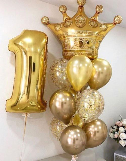 Кулі на день народження 1 рік «Золота корона»