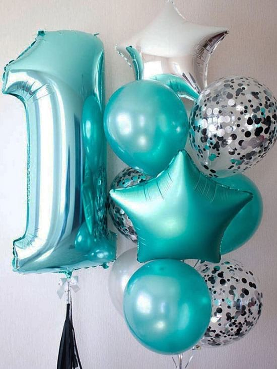 Воздушные шарики на годик «Бриз»