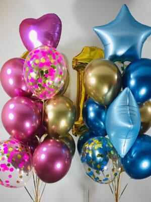Воздушные шары на 1 год «Мальчику и Девочке»