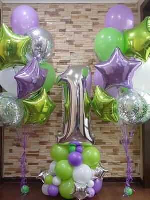 Воздушные шары на годик «Яркий зеленый»