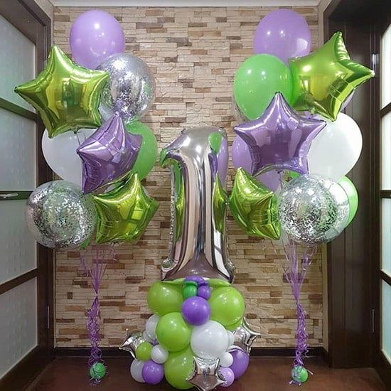 Повітряні кулі на рік «Яскравий зелений»