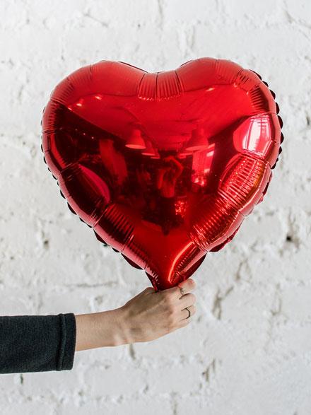 Фольгований шар серце