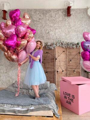 """Воздушные шары на 14 февраля """"Любовь в воздухе"""""""
